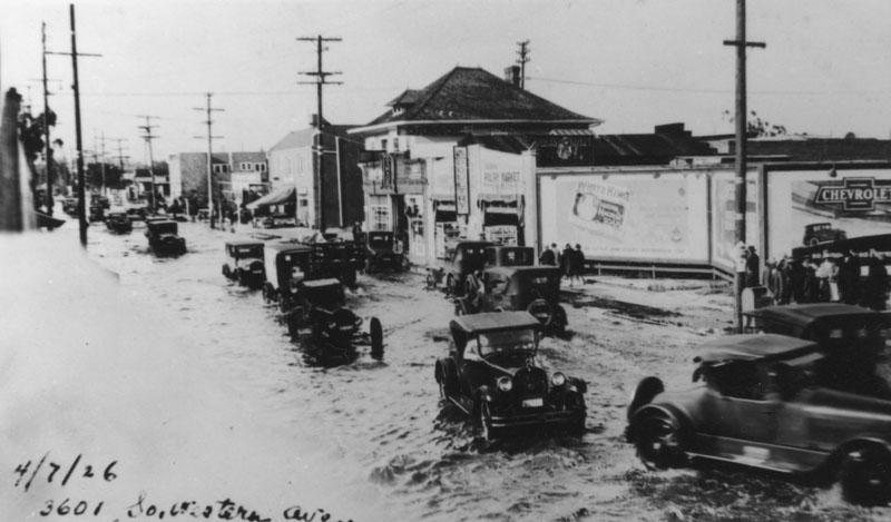 Flooded Western Ave 1926