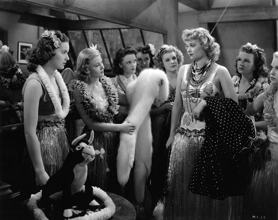 "Maureen O'Hara, Mary Carlisle and Lucille Ball in ""Dance, Girl, Dance"" (1940). Bizarre Los Angeles"