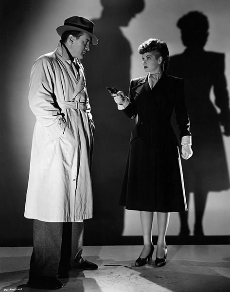 """George Sanders and Lucille Ball in """"Lured"""" (1947). Bizarre Los Angeles"""