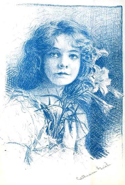 A Lillian Gish caricature from 1916. (Bizarre Los Angeles)