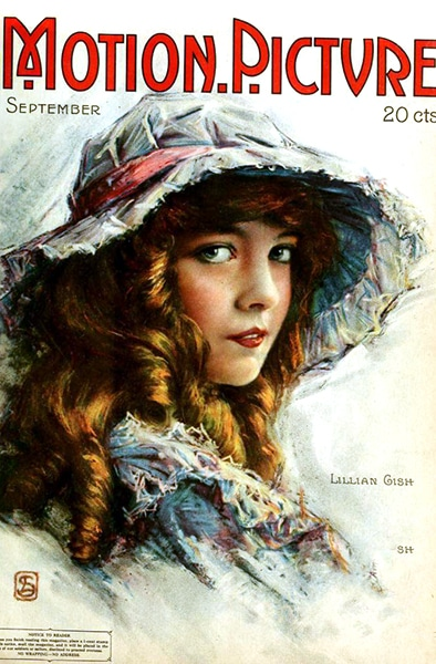 Lillian Gish on the cover of Motion Picture Magazine, Sept. 1916. (Bizarre Los Angeles)