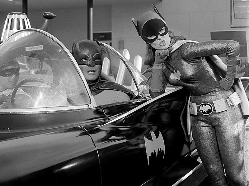 Burt Ward Yvonne Craig Adam West Batman Batmobile