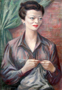 Sylvia Sidney painting