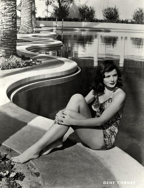 Gene Tierney pool