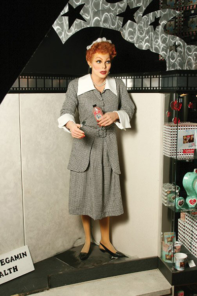 Lucille Ball waxwork Zombie