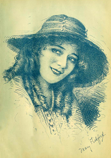 Mary Pickford sketch (Bizarre Los Angeles)