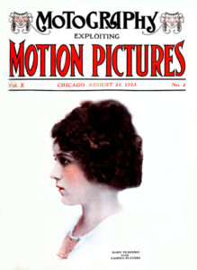 Mary Pickford on the cover of Motion Pictures Magazine, c. 1913. (Bizarre Los Angeles)
