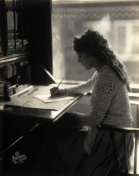 Mary Pickford writing