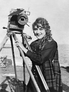 Mary Pickford with camera