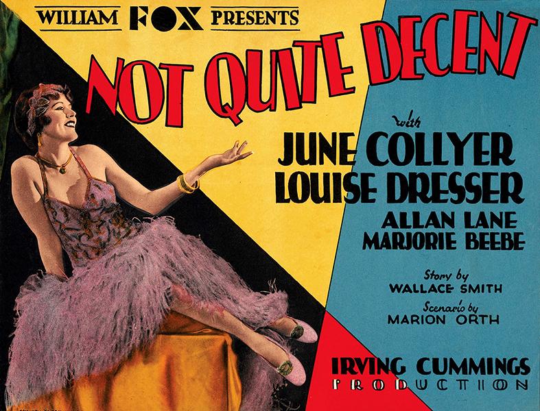 Not Quite Decent June Collyer