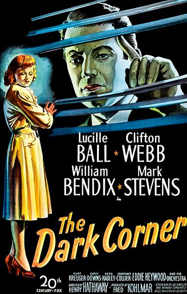 The Dark Corner Lucille Ball Mark Stevens 1946