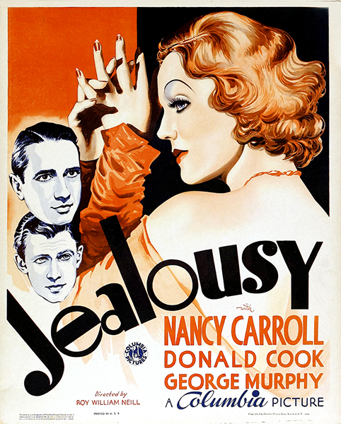 Jealousy (1934), starring Nancy Carroll, Donald Cook and George Murphy. (Bizarre Los Angeles)