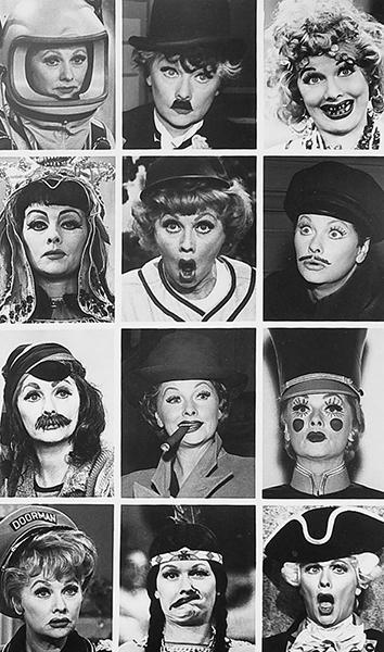 Lucille Ball faces