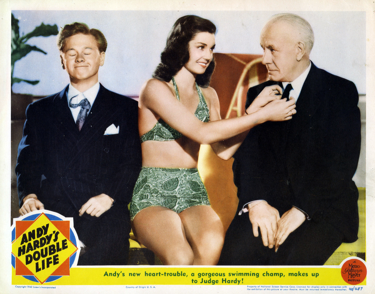 Andy Hardy's Double Life Mickey Rooney Esther Williams Lewis Stone