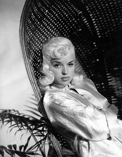"""""""I have a natural pouting look when my mouth is shut."""" -- Diana Dors (Bizarre Los Angeles)"""