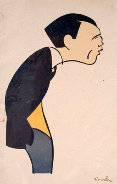 Roland Young Caricature