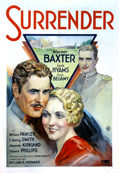 Surrender Warner Baxter Leila Hyams Ralph Bellamy