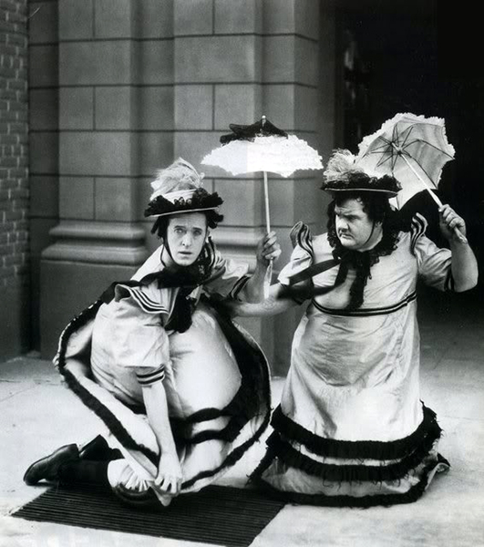 """Laurel and Hardy in """"Their Purple Moment"""" (1928). Bizarre Los Angeles."""
