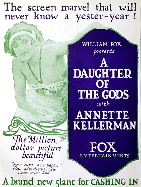 """""""A Daughter of the Gods"""" (1916) with Annette Kellerman. Bizarre Los Angeles."""