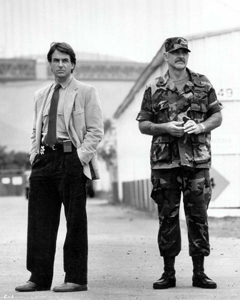 """Mark Harmon and Sean Connery in """"The Presidio"""" (1988) Bizarre Los Angeles"""