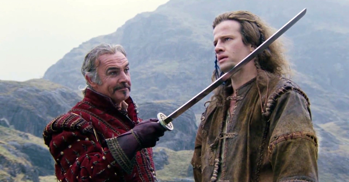 """Sean Connery and Christopher Lambert in """"Highlander"""" (1986) Bizarre Los Angeles"""