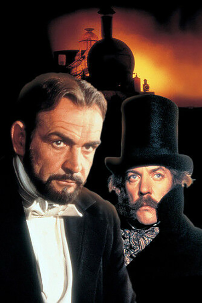 """Sean Connery and Donald Sutherland in """"The Great Train Robbery"""" Bizarre Los Angeles"""