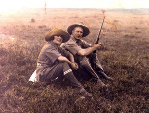Osa and Martin Johnson