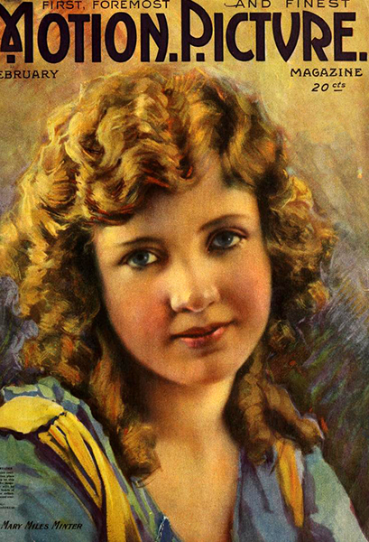 Mary Miles Minter on the cover of Motion Picture Magazine, Feb. 1918. (Bizarre Los Angeles)