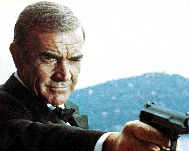 """Sean Connery in """"Never Say Never Again"""" (1983). Bizarre Los Angeles"""