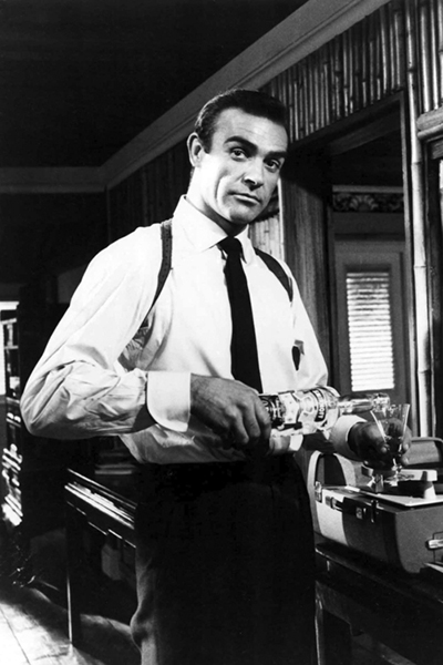 """""""I don't drink martinis. Give me a vodka with a lime tonic. Or, give me a scotch."""" -- Sean Connery (Bizarre Los Angeles)"""