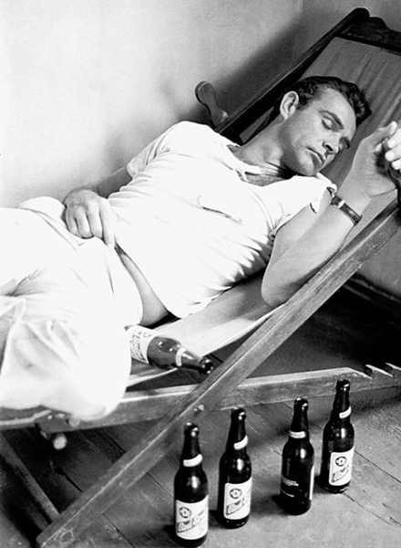Sean Connery passed out