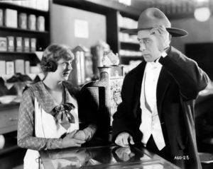 """Seena Owen and William S. Hart in """"Branding Broadway"""" (1918). Bizarre Los Angeles"""
