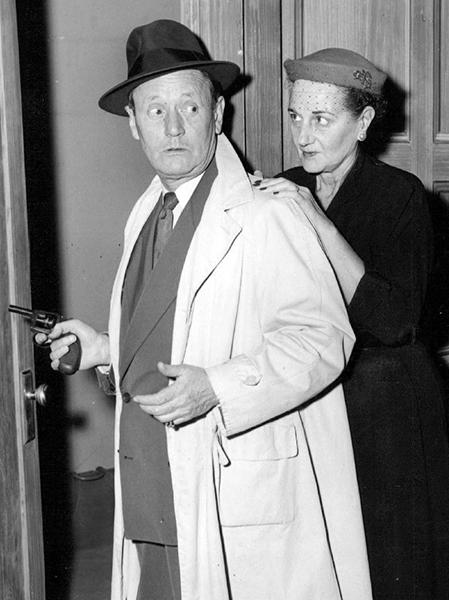 Roscoe Karns Mary Karns 1954