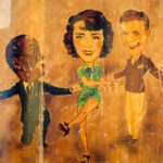 Al Jolson, Ruby Keeler and Dick Powell Caricatures from the Los Angeles Ambassador Hotel. (Bizarre Los Angeles)