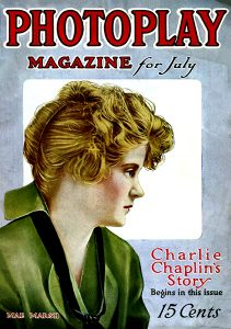 Mae Marsh on the cover of Photoplay Magazine. (Bizarre Los Angeles)