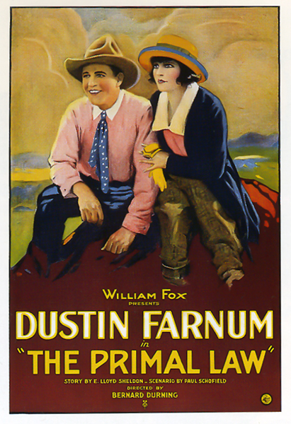 The Primal Law (1921). Starring Dustin Farnum and Mary Thurman. (Bizarre Los Angeles)