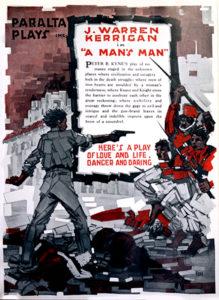 "J. Warren Kerrigan in ""A Man's Man"" (1918)"