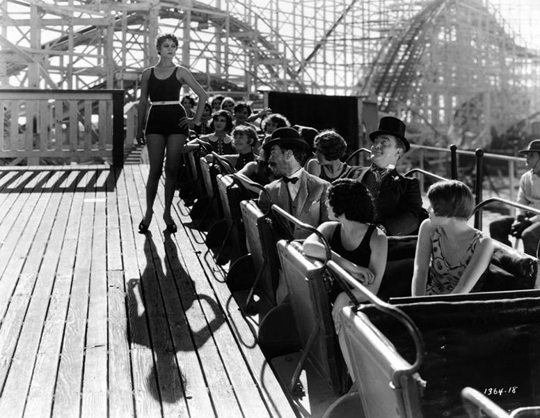 Fun picture taken from an unknown Mack Sennett comedy. (Bizarre Los Angeles)
