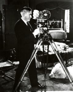 Mack Sennett with a camera