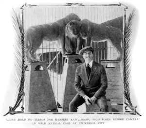 The Lions Cage at Universal City, circa 1910s. (Bizarre Los Angeles)