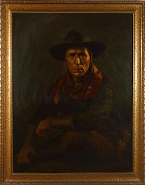 William S. Hart painting