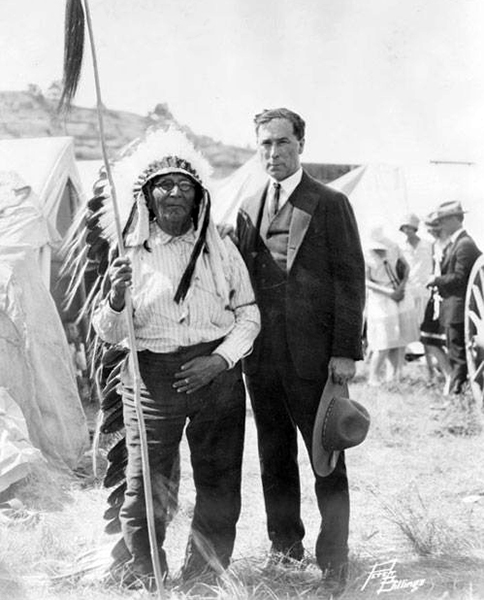 William S. Hart, Chief Plenty Coups, Crow Absorkee Apsaalooka, Pryor, Wyoming