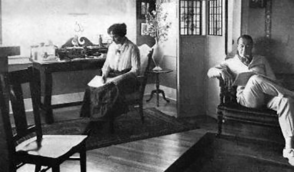 Lois Weber at home