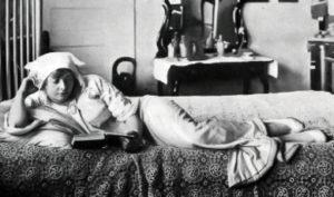 Myrtle Stedman in her bedroom.