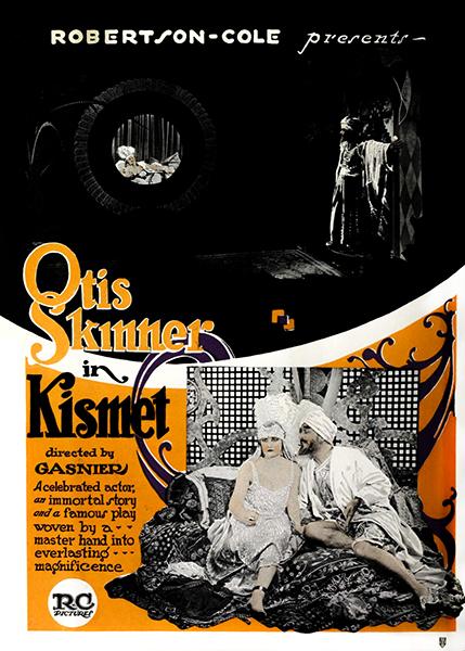 Kismet - Otis Skinner and Rosemary Theby (1920). Bizarre Los Angeles