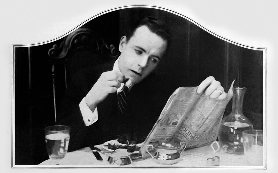 Edward Earle eating