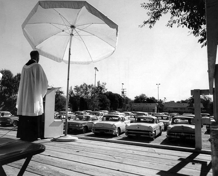 Drive-In Church Service