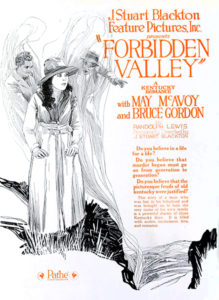 """""""The Forbidden Valley"""" (1920), starring May McAvoy. Bizarre Los Angeles"""