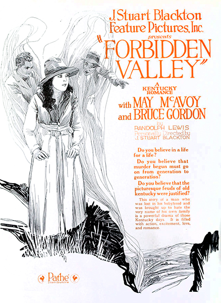 """The Forbidden Valley"" (1920), starring May McAvoy. Bizarre Los Angeles"