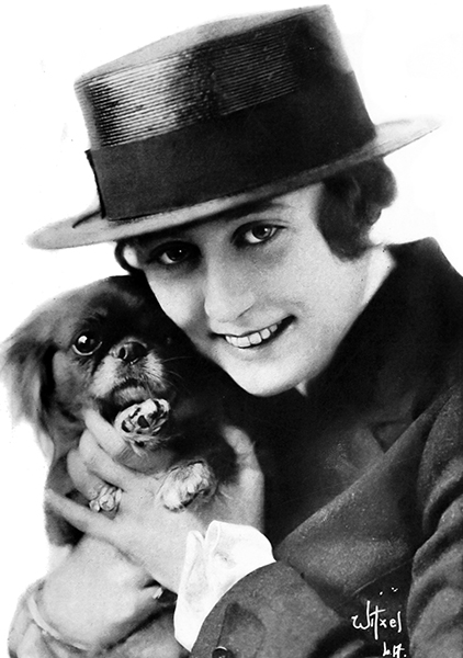 Grace Cunard with her dog. (Bizarre Los Angeles)